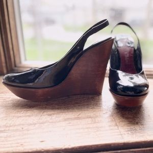Chloé Shoes Black with Wooden Wedge BEAUTIFUL